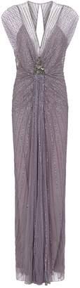 Jenny Packham Amelie Draped Sequin Gown