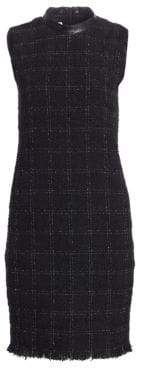 Akris Punto Plaid Tweed Shift Dress