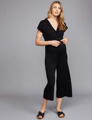 392eca312d34 Splendid French Terry Straight Leg Maternity Jumpsuit