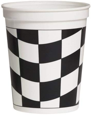 Black & White Check Black and White Check Stadium Cup