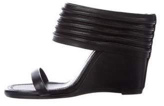 Rick Owens Leather Slide Wedges