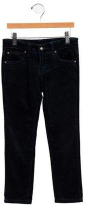 Oscar de la Renta Girls' Five-Pocket Velvet Pants