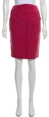Chanel Knee-Length Wool Skirt Pink Knee-Length Wool Skirt