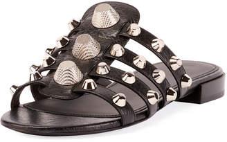 Balenciaga Giant Palladium Studded Sandal