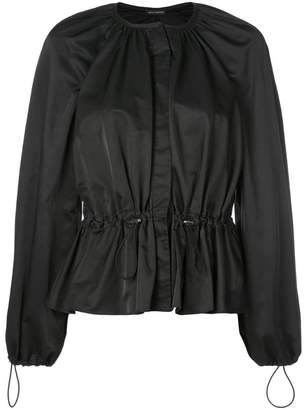 Josie Natori drawstring waist blouse