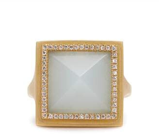 Monique Péan Diamond, jade & yellow-gold ring