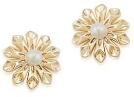 Carolee Faux Pearl Goldtone Pearl Glam Earrings