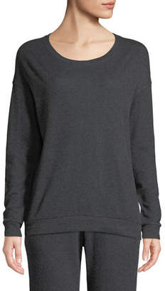 Neiman Marcus Majestic Paris for Cotton-Cashmere Crewneck Pullover Sweater