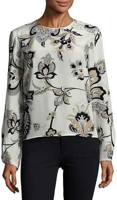 Carolina Herrera Women's Floral-Printed Long-Sleeve Blouse