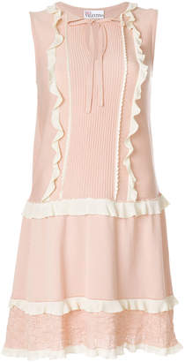 RED Valentino embroidered trim dress