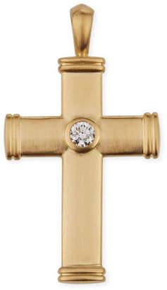 Mens gold cross diamond necklace shopstyle david yurman mens streamline 18k cross pendant with diamond aloadofball Choice Image