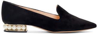 Nicholas Kirkwood Black Suede Casati Loafers