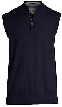 Peter Millar Men's Wool Quarter Zip Pullover