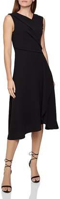Reiss Marling Sleeveless Draped Dress