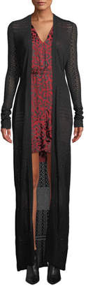 Zac Posen Aviva Gown-Length Knit Cardigan