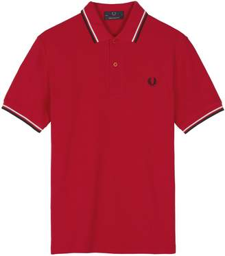 Fred Perry F Perry Twin Tipped Polo Shirt, /White/Black - Imperial Size 36