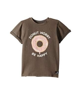 Rock Your Baby Donut Worry Short Sleeve T-Shirt (Toddler/Little Kids/Big Kids)