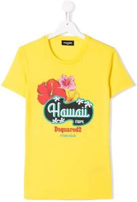 DSQUARED2 TEEN Hawaii print T-shirt