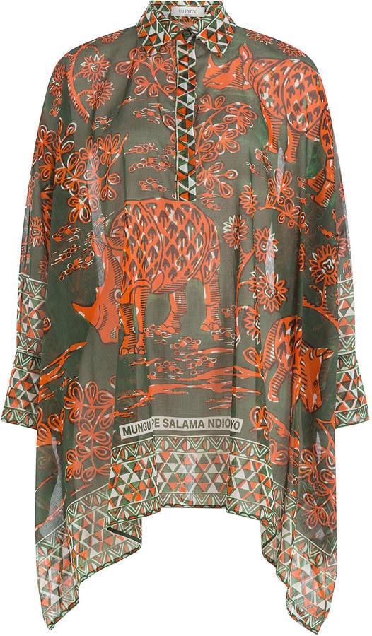 Valentino Printed Cotton Tunic Top