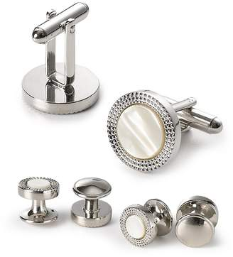 Bloomingdale's The Men's Store at Decorative Circle Stud and Cufflink Set - 100% Exclusive