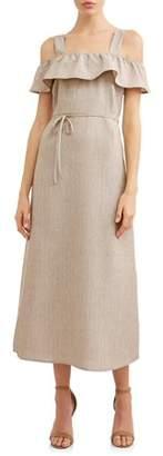LOVE SADIE Women's Front Slit Maxi Dress