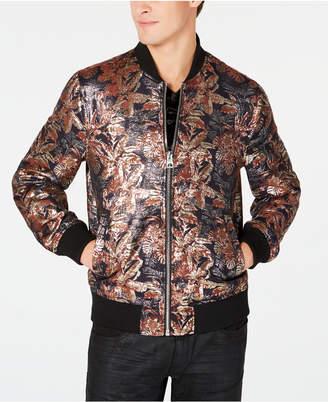 GUESS Men Grand Floral Brocade Bomber Jacket