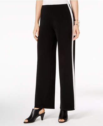 Alfani Varsity Stripe Wide-Leg Pants, Created for Macy's