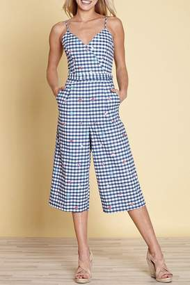 Yumi Gingham Travel Jumpsuit