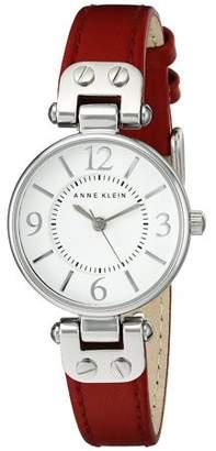 Anne Klein Leather Ladies Watch 10-9443WTRD