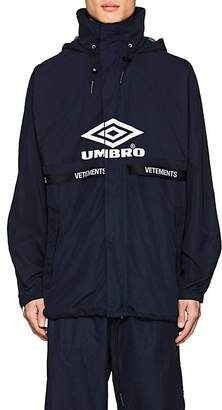 "Vetements Men's ""Umbro""-Print Hooded Track Jacket"
