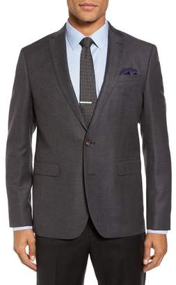 Sand Trim Fit Wool Blazer