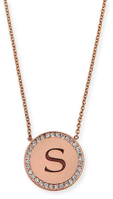 Chicco Zoe Personalized Pave Diamond Disc Initial Necklace