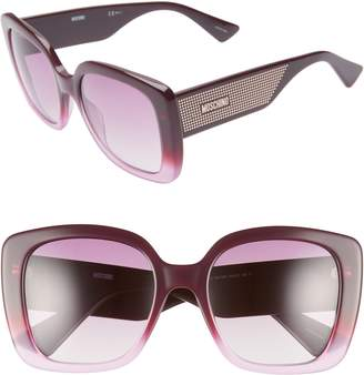 Moschino 54mm Square Sunglasses