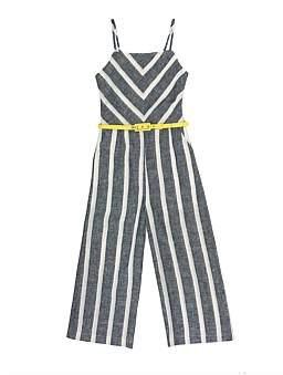 Review Diana Linen Stripe Jumpsuit (Girls 6-16)