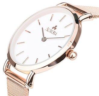 Aurora [オーロラ ファッション 腕時計 ウォッチ 32mm メッシュベルト シンプル