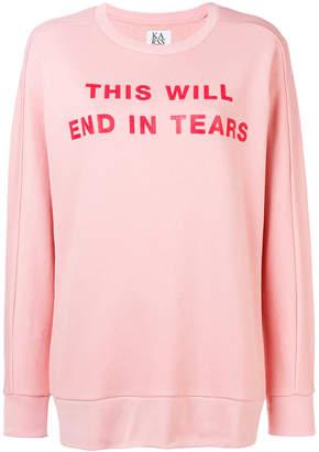 Zoe Karssen This Will End In Tears sweatshirt