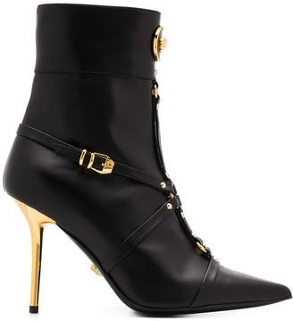 Versace Medusa ankle boots