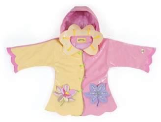 Kidorable Little Girls' Lotus Flowers PU Raincoat