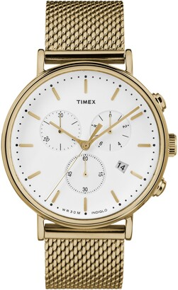 Timex Fairfield Chronograph Mesh Strap Watch, 41mm