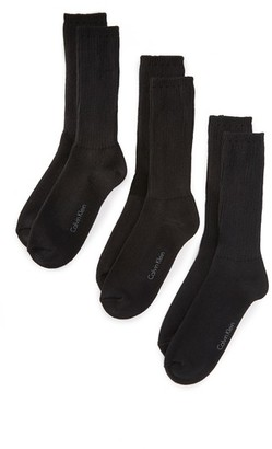Calvin Klein Underwear 3 Pack Casual Knit Crew Socks $22 thestylecure.com