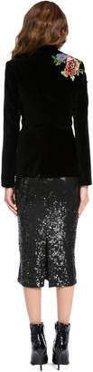 Alice + Olivia HIX CROSS FRONT FITTED BLAZER