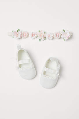 H&M Ballet Flats and Hairband - White