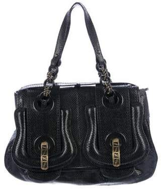 Fendi Python B Handle Bag Black Python B Handle Bag