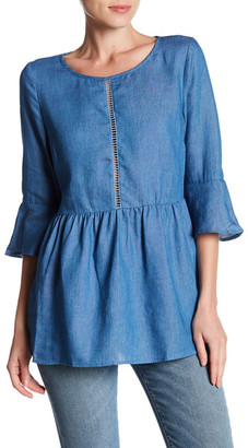 Lucca Couture Ladder Trim Denim Tunic $80 thestylecure.com