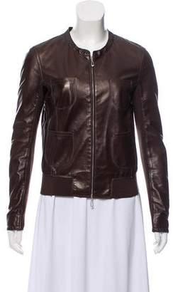 Gimo's Italiana Rib Knit Leather Jacket