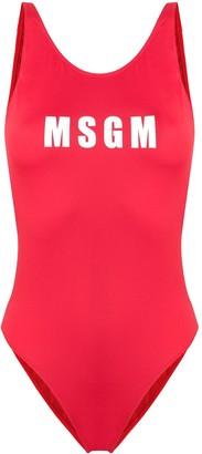 MSGM logo swimsuit