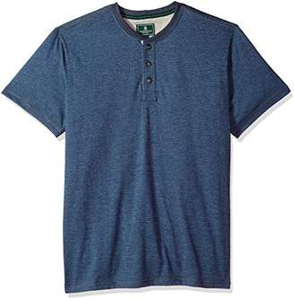 G.H. Bass & Co. Men's Short Sleeve Carbonized Jersey Henley