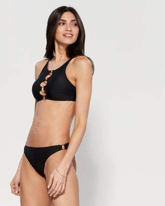 0634b5737f0 Bebe Two-Piece Black O-Ring Bikini Set