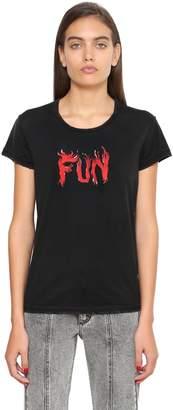 Givenchy (ジバンシイ) - GIVENCHY FUN コットンジャージーTシャツ