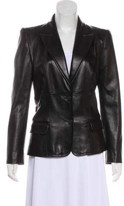 Barbara Bui Leather Structured Jacket